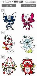 東京五輪・パラリンピックの大会マスコット最終候補3作品=Tokyo2020提供