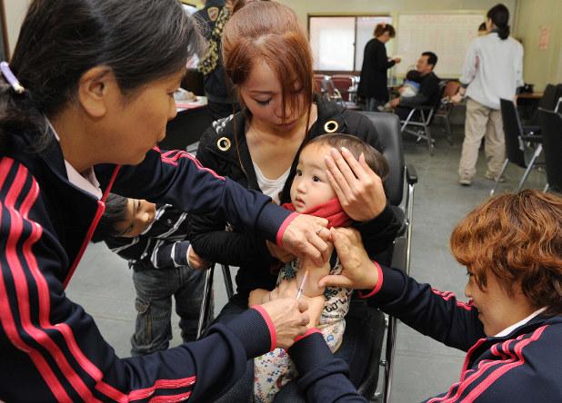 風疹と麻疹の予防接種