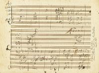 ベートーベンの自筆楽譜。編曲した「諸国の民謡集」よりロシア民謡の一部