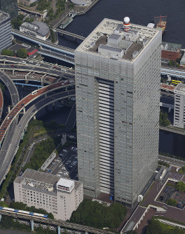 This Aug. 24, 2017 file photo shows Toshiba Corp. headquarters in Tokyo's Minato Ward. (Mainichi)