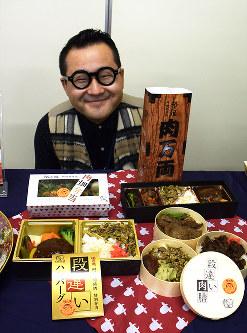 「たっぷり肉を味わって」とPRする千葉祐士社長=2017年12月13日、村田由紀子撮影