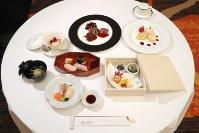 第5回IOC調整委員会会議の公式夕食会で提供された、東北3県の食材を使用した正さんメニュー=東京都港区で2017年12月12日午後(代表撮影)