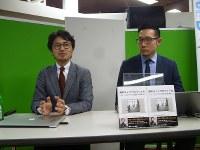 ドイツの「働き方」を紹介する金田さん(左)と永井さん=毎日メディアカフェで