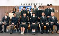 農業記録賞の高知県表彰式に出席した受賞者ら=高知市北御座のJA高知ビルで、松原由佳撮影