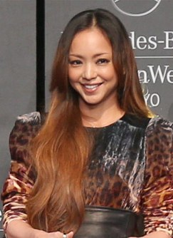 Namie Amuro smiles at the