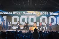 CyberZ社が「World Grand Prix 2018(仮)」の開催を発表。優勝賞金は100万ドル=東京都新宿区のベルサール高田馬場で12月24日、CyberZ社提供