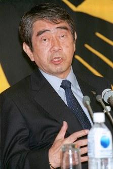 元日本サッカー協会会長・岡野俊一郎さん=2000年、藤井太郎撮影