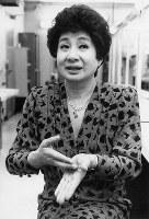 女優・京唄子さん=1987年撮影