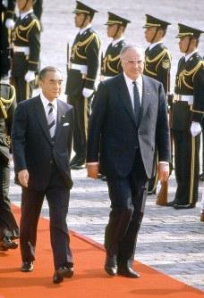 元独首相、ヘルムート・コールさん=1986年撮影