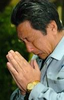新潟県旧山古志村の元村長、衆院議員・長島忠美さん=2004年、梅村直承撮影