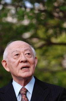 元長崎大学長・土山秀夫さん=2007年、徳野仁子撮影