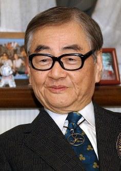 学習院大名誉教授・篠沢秀夫さん=2003年、武市公孝撮影
