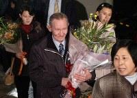 北朝鮮による拉致被害者、曽我ひとみさんの夫、チャールズ・ジェンキンスさん=2004年、岩下幸一郎撮影