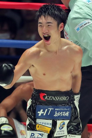 ボクシング:拳四朗、「百裂拳」...