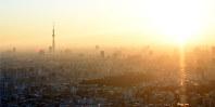 元日の朝を迎えた東京の町並み=東京都豊島区サンシャイン60展望台で2018年1月1日午前7時6分、松崎進撮影