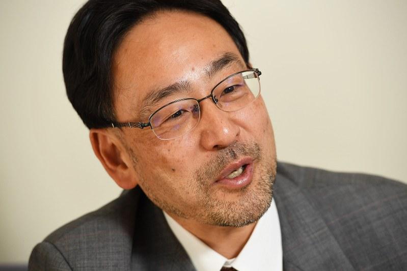 藻谷浩介さん(2017年11月21日、中村藍撮影)