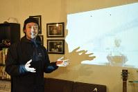 「与島の未来を見つめ続けていきたい」と話す内田大輔さん=高松市塩上町1で、小川和久撮影