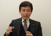 受験の心構えを説く石原賢一部長=東京都内で2017年12月22日、浜名晋一撮影