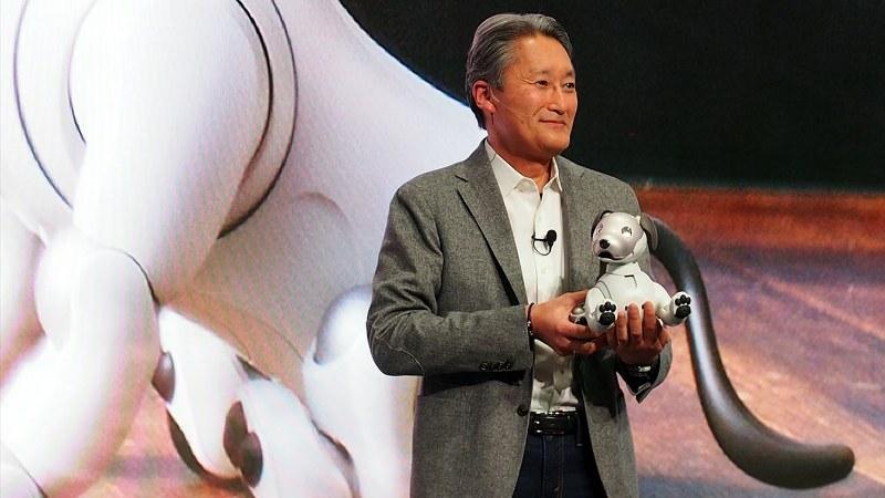 ソニーの平井一夫社長は日本で発売された「aibo(アイボ)」を世界に向けてアピール