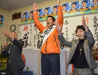 松浦市長選:友田氏、無投票で初...