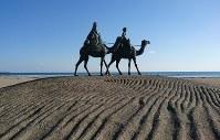 御宿海岸の「月の沙漠像」