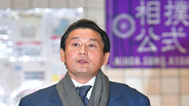 貴乃花親方=2018年1月13日、手塚耕一郎撮影