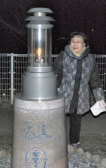 Yukiko Yahata is seen at Otsuchi, Iwate Prefecture's