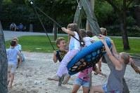 ベルギーの公園で遊ぶ子どもたち=久保田修平さん提供