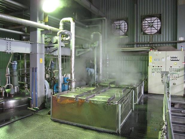 食肉処理場内にクックピット社の専用工場