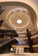 Tokyo Midtown Hibiya's Atrium, which was unveiled to the press, is seen in the capital's Chiyoda Ward on Jan. 30, 2018. (Mainichi)