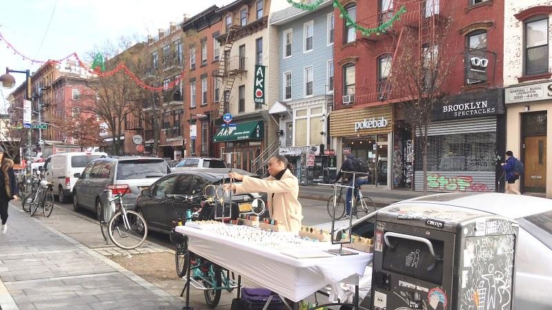 ブルックリン地区ウィリアムズバーグの街並み(写真は筆者撮影)