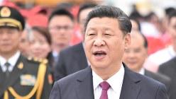 中国の習近平国家主席=2017年6月29日、福岡静哉撮影
