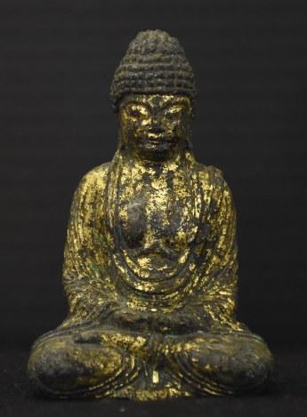 くるま橋遺跡:完全な形「金銅仏...