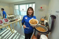 和食を中心に料理が提供されるJOC G-Road Station=韓国・江陵で2018年2月6日午前8時58分、手塚耕一郎撮影