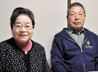 トータス松本さんの父博さん(右)と母友子さん=兵庫県西脇市で、塩田彩撮影