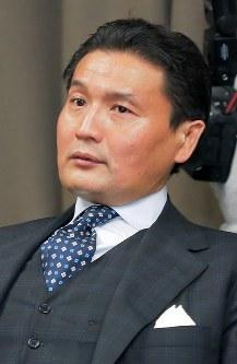 Sumo stablemaster Takanohana (Mainichi)