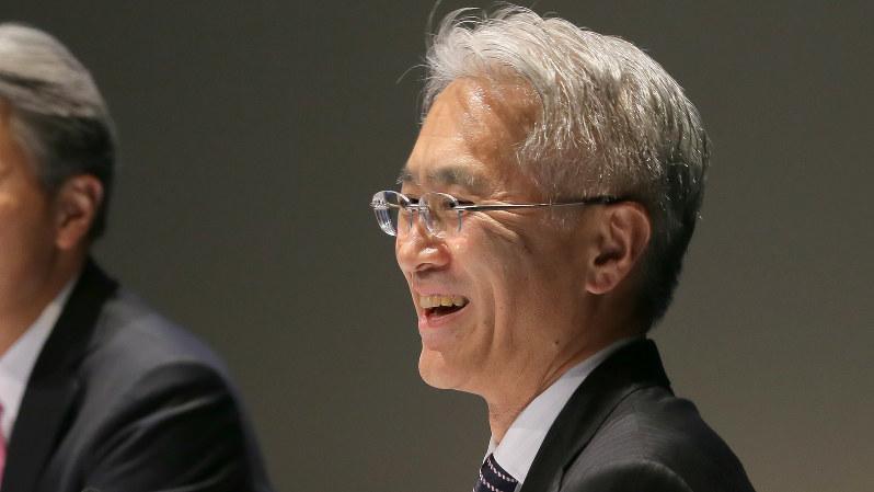 ソニーの新社長に決まった吉田憲一郎副社長=2018年2月2日、和田大典撮影