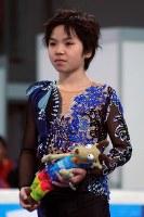 フィギュアスケート男子で2位になり、表彰式に臨む宇野昌磨=オーストリア・インスブルックで2012年1月16日、芳賀竜也撮影