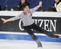 フィギュアスケート世界選手権の男子フリーで演技する田中刑事=フィンランド・ヘルシンキで2017年4月1日、佐々木順一撮影