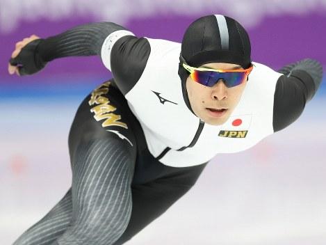 スピードスケート男子1500メートルで5位になった小田卓朗=江陵オーバルで2018年2月13日、佐々木順一撮影