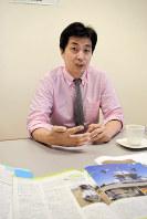 西日本高速道路(NEXCO西日本)米国法人の松本正人社長=清水憲司撮影
