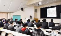 近畿25大学と自治体が開いた文化財専門職説明会の様子=奈良市の奈良大で、林由紀子撮影