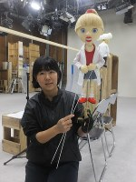 NHKEテレ「JAPANGLE」の人形操演・山田はるかさん