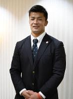 帝京大で新チームの主将に選ばれた秋山大地選手=徳島市大道1の徳島ワシントンホテルプラザで、大坂和也撮影