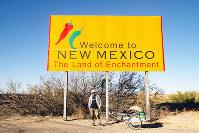 アルゼンチン・ウシュアイアから北上すること2年1カ月。アメリカ合衆国に入る=吉田正仁さん提供