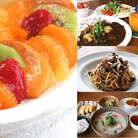 和歌山の産品をふんだんに使用した料理やデザート=すみたに提供