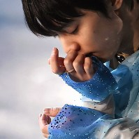 Yuzuru Hanyu performs during the