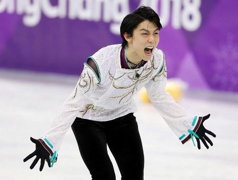 In Photos: Hanyu wins gold in men's figure skating; Uno captures silver