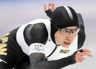 女子500メートルで優勝した小平奈緒=江陵オーバルで2018年2月18日、佐々木順一撮影