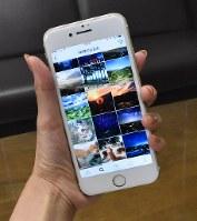 スマートフォンで写真を投稿するなどして楽しめるインスタグラム